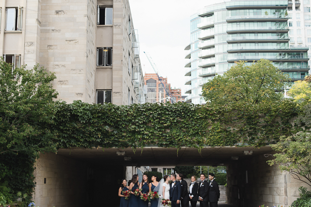 Bridal party photo at the U of T
