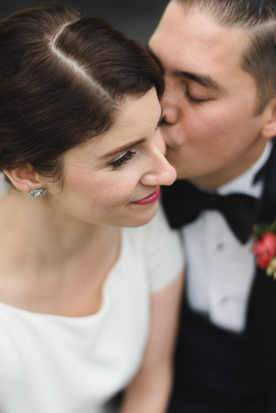 A tender bride and groom photo at the U of T