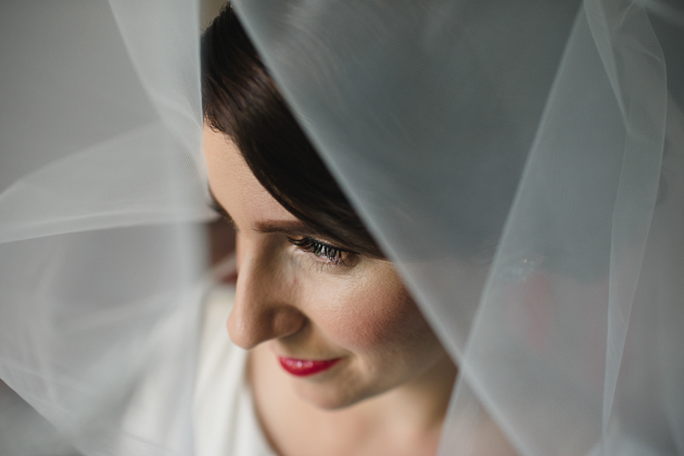 A bride's portrait taken at the King Edward Hotel