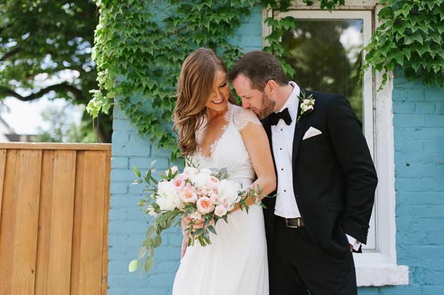 Romantic Queen West wedding photos in Toronto