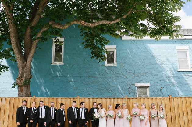 Cool downtown Toronto wedding photos in Queen West