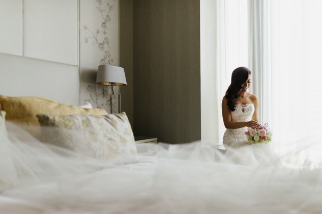bride getting ready at the four seasons hotel