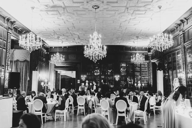 Romantic, candle-lit Casa Loma wedding