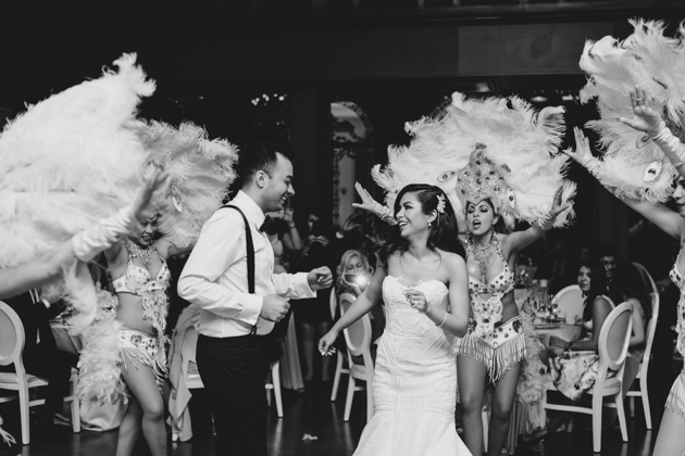Bride and groom's first dance at their Casa Loma wedding