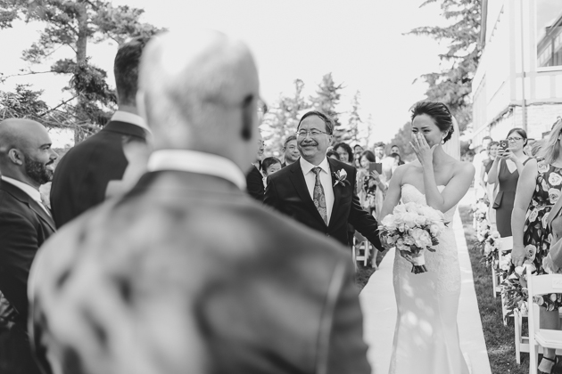 Father Giving Away The Bride At Wedding Ceremony