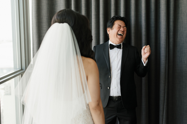 Father Daughter Reveal On A Wedding Day