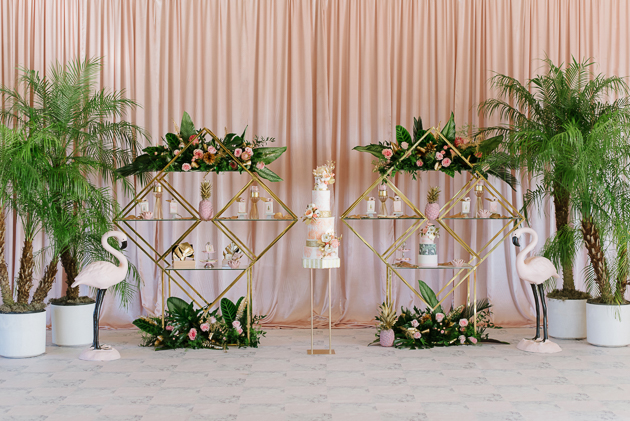 Art decor inspired wedding inspiration with lots of pink!