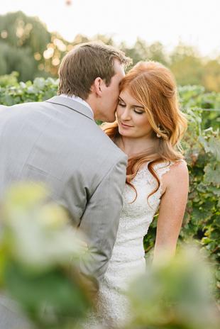 Golden hour wedding photographs at the Ravine Winery wedding