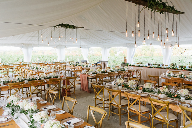 Rustic and chic decor at the Ravine Winery wedding