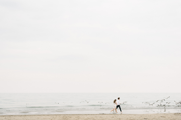 fun beach engagement photos in Toronto
