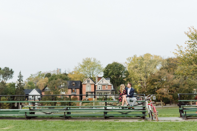 Bicycle engagement photos are so cute!