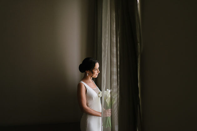 Beautiful bride in her suite at the King Edward Hotel