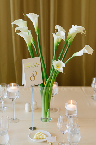 Modern and chic Rosewater Room wedding reception in Toronto
