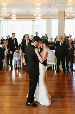 First dance as husband and wife at the Rosewater Room wedding