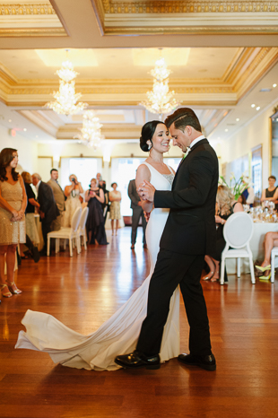 First dance at the Rosewater Room wedding