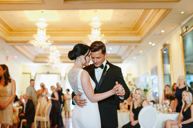 Romantic first dance at the modern Rosewater Room wedding