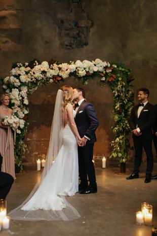 Romantic Fermenting Cellar wedding ceremony in Toronto