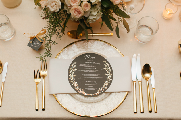 Romantic White and Gold Fermenting Cellar wedding