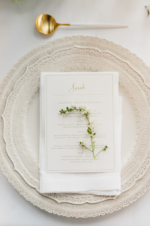 Delicate wedding florals at the King Edward Hotel Wedding