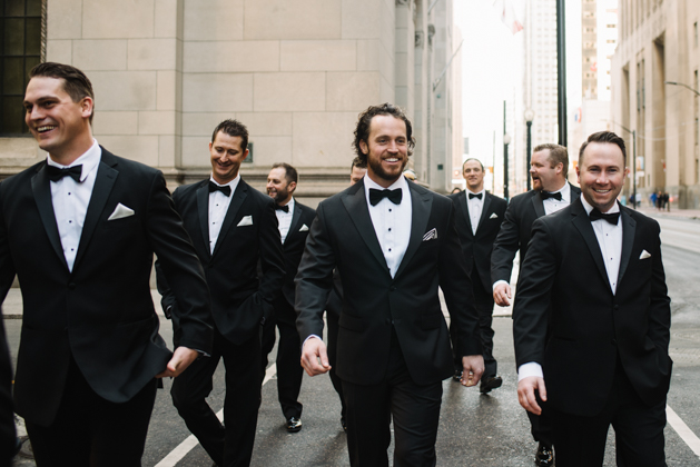 Downtown Toronto winter wedding