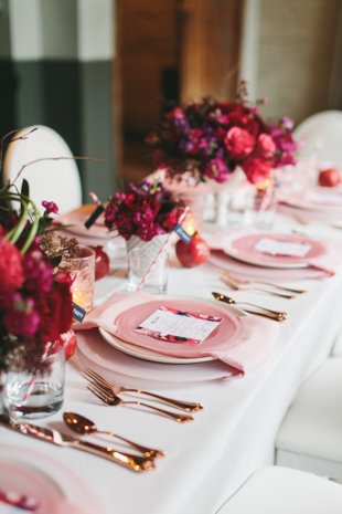 Pink, red and gold party decoration ideas