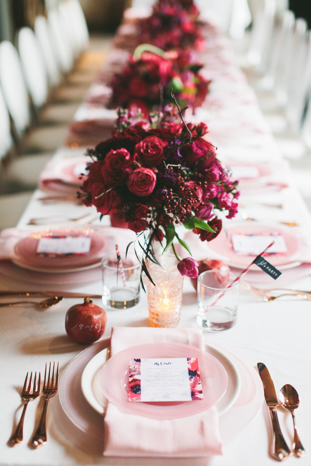 Red and pink party decoration ideas