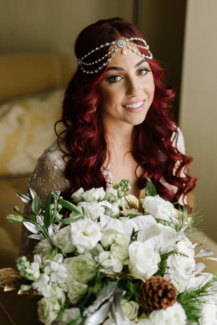 Our beautiful bride on the morning of her New Years Eve wedding day