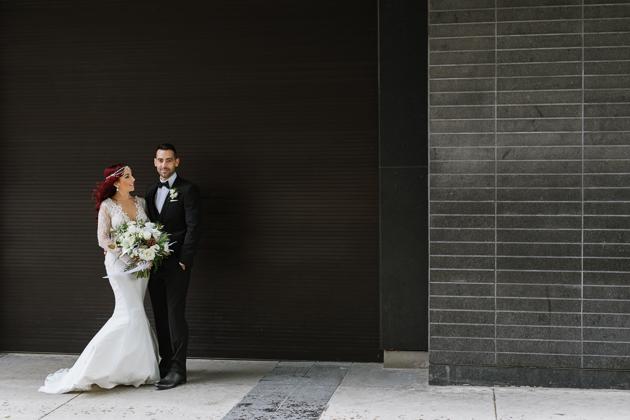 Hip downtown wedding photos in Toronto