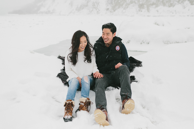 Winter engagement photos in Toronto