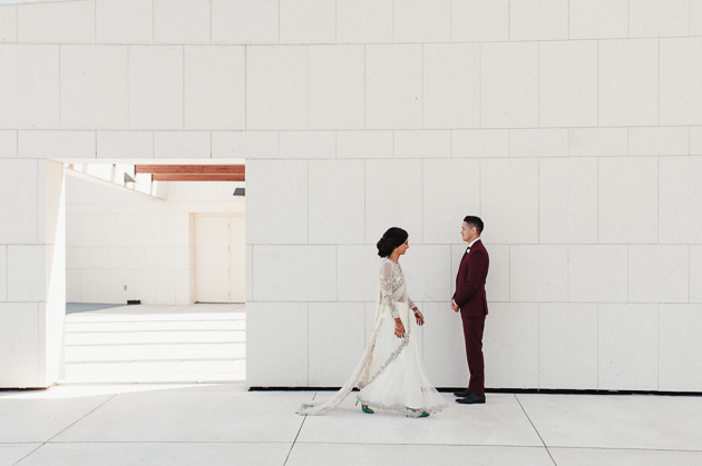 First Look wedding photos at Aga Khan Museum