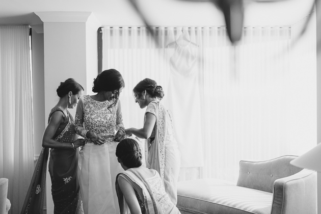 A bride getting ready on the morning of her wedding in Toronto