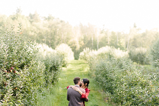 Apple orchard engagement pictures ideas