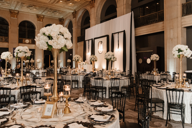 Wedding reception hall at One King West