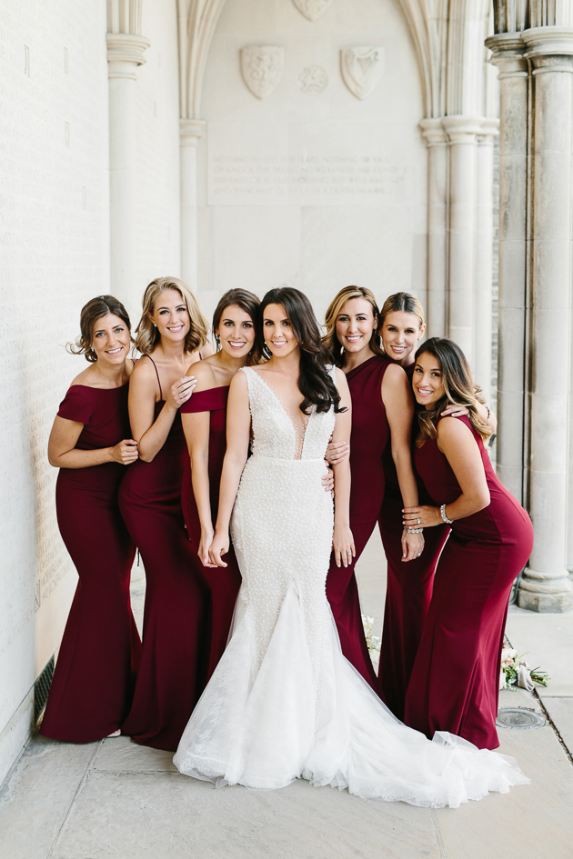 Elegant bridesmaids wedding photo inspiration