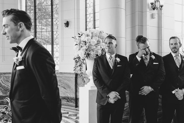 Groomsmen cry too!