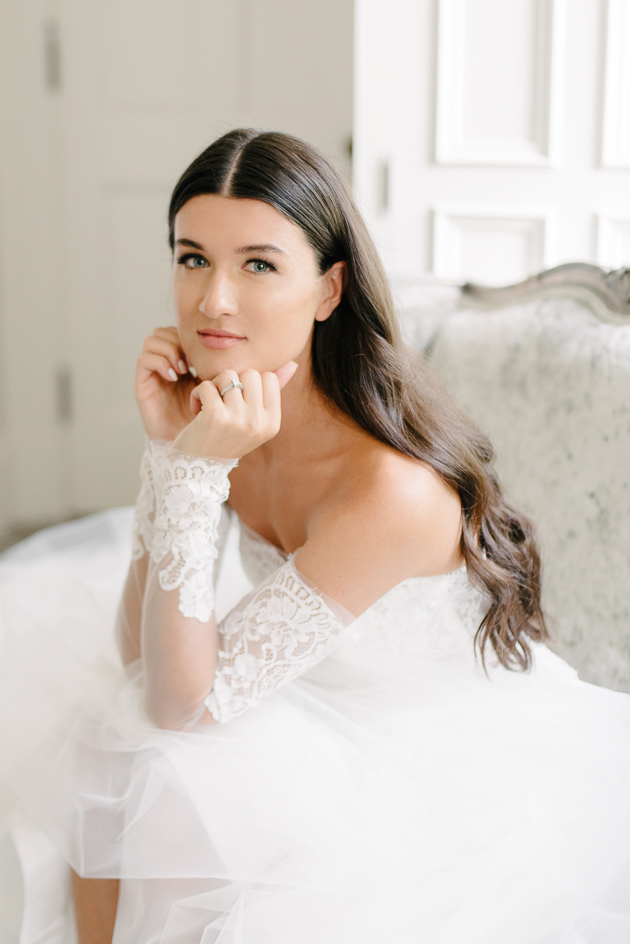 Our beautiful bride on the morning of her wedding. A dreamy bridal portrait is a must have photo on any wedding photo list!