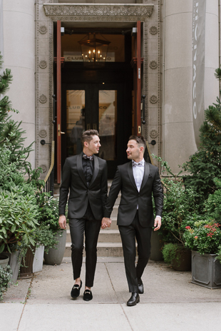 Royal Ontario Museum wedding photos on Bloor Street