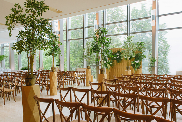 Tropical wedding at the Royal Conservatory of Music