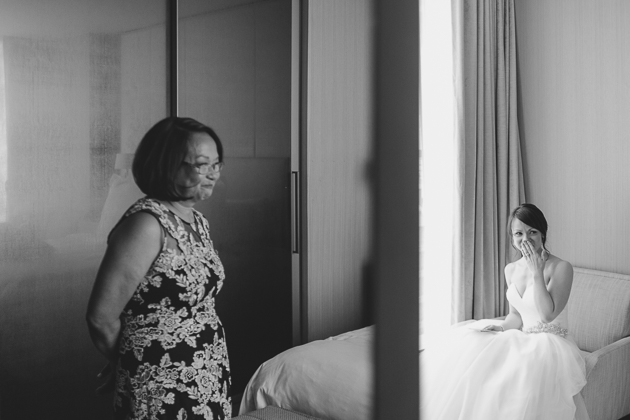 Emotional mother of the bride wedding photo