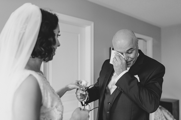 Emotional father of the bride reveal