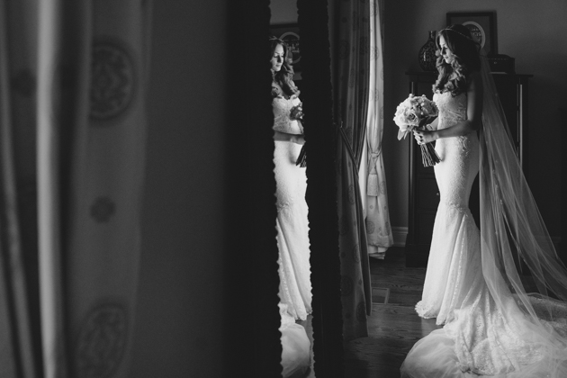 Photo of the bride by Toronto's best wedding photographer
