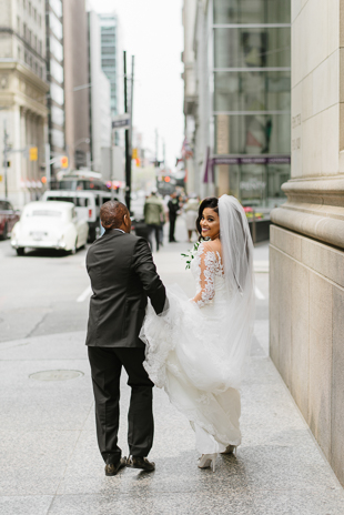Downtown wedding photos in Toronto