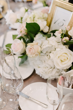 Romantic and elegant decor at One King West Hotel wedding