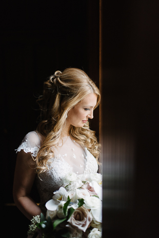 Bridal portraits at One King West Hotel