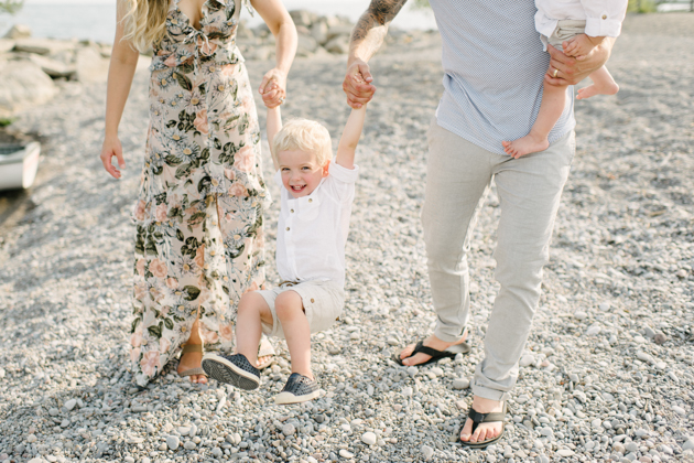 Summer family shoot on a beach in Toronto