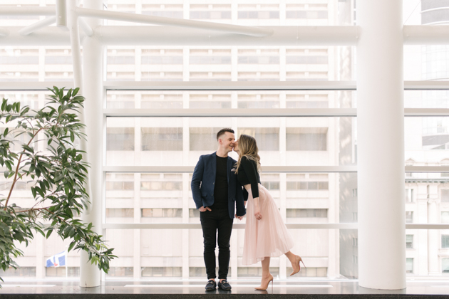 Bright and airy engagement photos in Toronto