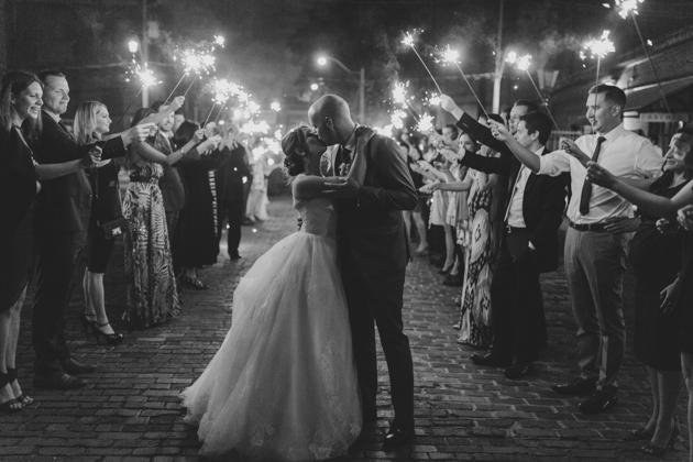 Grand Exit wedding photo
