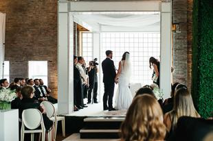 Modern wedding ceremony at 99 Sudbury