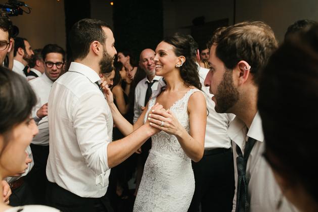 Bride and groom having fun at the 99 Sudbury wedding