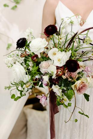 Romantic boho-inspired Evergreen Brickworks wedding anniversary inspiration